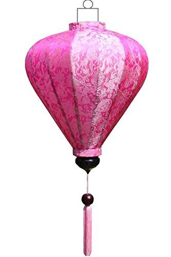 Lampionsenzo Vietnamesische Seide Lampion Ballon Pink by
