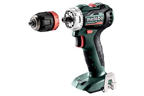 Metabo 601039890 601039890-Taladro Atornillador sin escobillas a bateria 12V Ah Li-Ion PowerMaxx BS 12 BL Q, 1 V, Negro