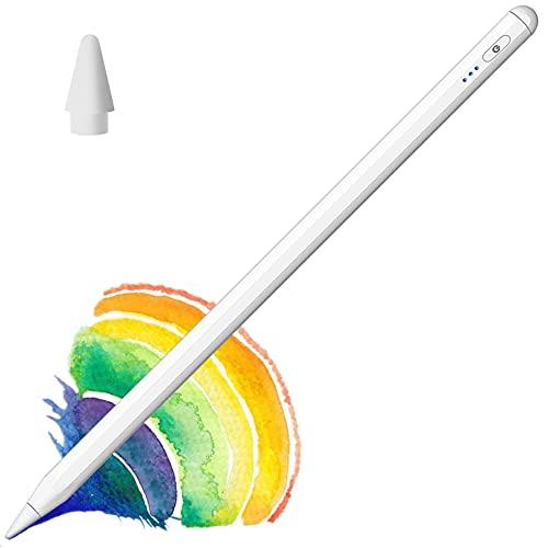 Lápiz Pen para iPad 2018-2021 con Indicador Potencia, Inclinación, Rechazo de Palma, Diseño Magnético, Lápiz Tactil 2.Gen Stylus Pen para iPad 8th/7/6, iPad Pro 11(2/1)/12,9(3/4)/Mini 5/Air 4/3