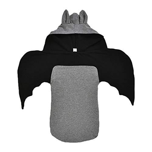 YOYOHO Saco de Dormir para bebés recién Nacidos Forma con Capucha Manta de algodón para bebés Swaddle - Gris # 2