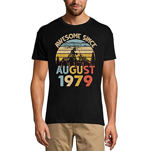 Ultrabasic Camiseta para hombre impresionante desde agosto de 1979 – Vintage Mountain 42º cumpleaños camiseta - negro - 3X-Large
