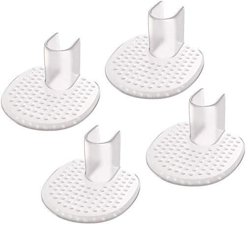 LHKJ 4 Stücke Zehenschutz Kissen,Flip Flops Anti Rutsch Silikon Pads,Vorfuß Pads für Flip Flops und Sandalen