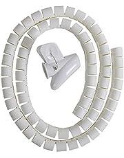 Cable Zipper Cord Organizer Wire Management White Color