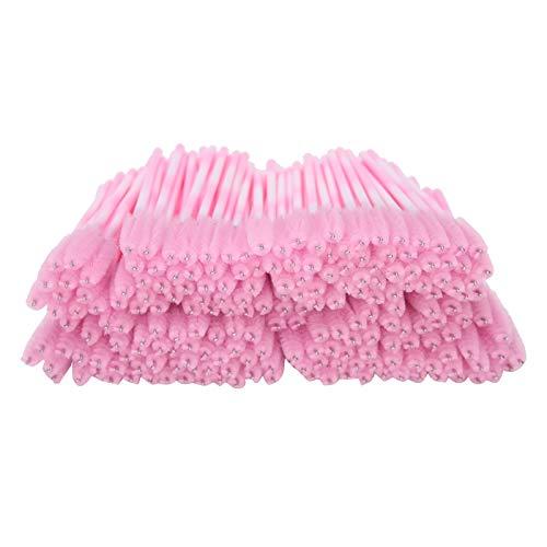 CHICIRIS Wimpernpinsel, Wimpernpinsel Mascara Wand, für Mädchen Wimpern Frauen Schönheit(Pink)