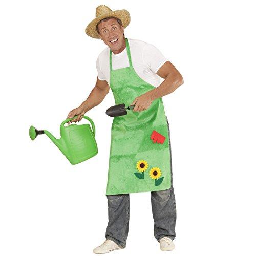 Amakando Delantal de Jardinera con Girasoles Disfraz de Jardinero Verde Bata para jardín floreada Outfit granjera Mandil Floral Complemento de Flores Granjero