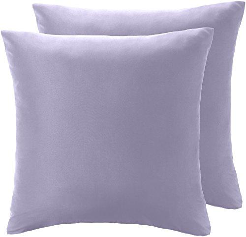 AmazonBasics - Kissenbezug, Mikrofaser Lavendelfarben - 2er-Set