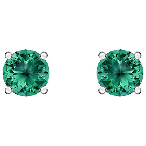 Swarovski Orecchini Stud Attract, Verde, Placcatura Rodio