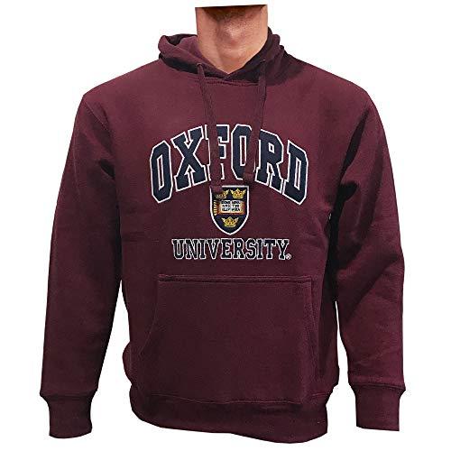 Oxford University Kapuzenpullover Offizielles Lizenzprodukt Premium Qualität Souvenir Geschenk Gestickt Unisex Herren Damen Pullover Hoodie Sweatshirt (S, Burgund)