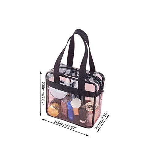 Bolsa de almacenamiento de viaje Pingdi de PVC, transparente, portátil, transparente, para gimnasio/comestibles/cosméticos