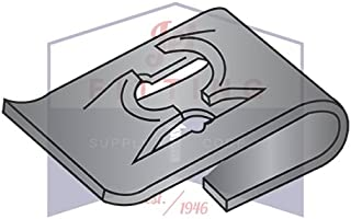 6-32 Carton: 2,000 pcs C8023-632-4 Tinnerman Style J-Type Spring Nuts//Steel//Black Phos