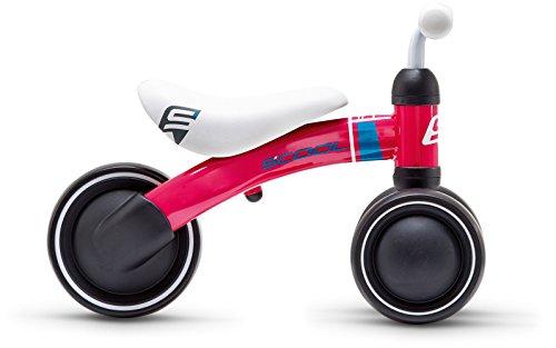 S'Cool pedeX first Kinder Laufrad 2018 (One Size, himbeer/petrol matt)