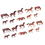 T TOOYFUL 20x 1/87 Ho Modello di Cavallo Figure di Animali Modello di Treno Layout Parchi di Animali da Fattoria