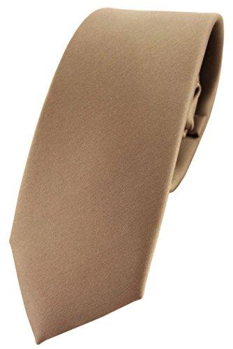 TigerTie - corbata estrecha - marrón oro-marrón marrón amarillento monocromo poliéster