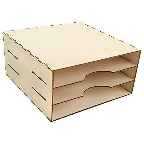 Organizador con tres compartimentos para papeles de 12'x12' (30,5 x 30,5 cm)