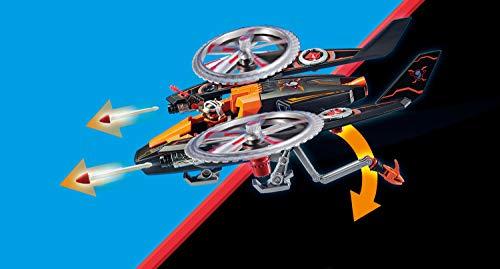 PLAYMOBIL- Galaxy Police Piratas Galácticos Helicóptero, A Partir de 5 Años, Multicolor (70023)