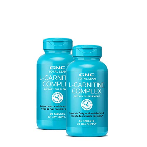 GNC Total Lean L-Carnitine Complex, Twin Pack, 60 Tablets, Fuels Muscle Recovery