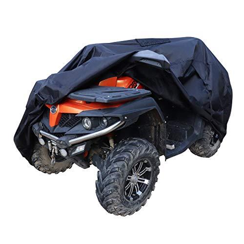 Amazon Basics – Funda resistente a la intemperie prémium para quad (ATV), poliéster de tipo Oxford de 150D, para quads de hasta 190cm
