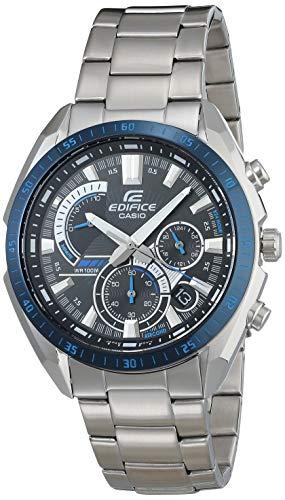 Casio Men's Edifice Quartz Stainless Steel Strap, Silver, 22 Casual Watch (Model: EFR-570DB-1BVCR)