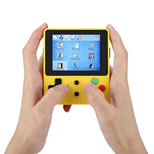 """Mini Gaming Screen Handheld, 2.6"""" Mini Handheld Game Console Compatible with for GBC/GB/NEOGEO/CPS/PS1 Good Gifts for Kids and Adult(Yellow)"""
