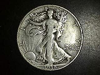 1938 D Walking Liberty Half Dollar- Exceptional Coin - Beautiful Strike 50c VG+ US Mint