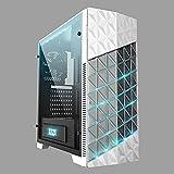 """Azza Onyx 260X Rgb Custodia per computer Midi-Tower da Gaming, 3.5"""" HDD, 4*USB3.0/2.0, 473mm x 198mm x 447mm, Bianco"""