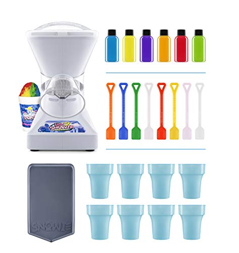 New Little Snowie 2 Ice Shaver - Premium Shaved Ice Machine and Snow Cone Machine with Syrup Samples