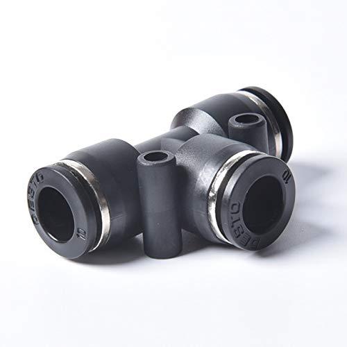 Partes neumáticas 1PC T/Y/L/Recto Empuje neumático Tipo En Herrajes for Aire/Agua de la Manguera y el Tubo Conector de 4 a 16 mm PU/PV/PY/PE/PM/PK/PA Fuerte