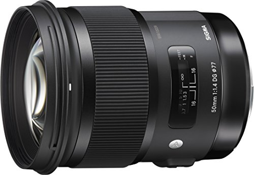 Sigma 311101 50mm F1.4 DG HSM Art Lens for Canon, Black