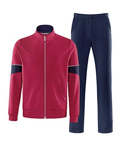 Schneider Sportswear Herren Sport-Freizeit-Trainingsanzug MAELM Anzug rot blau, Größe:25