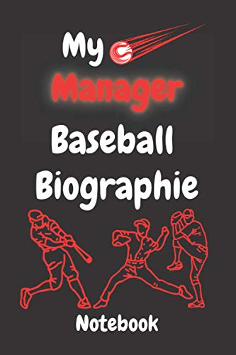 My Manager Baseball Biographies Composition notebook: Lined Composition notebook / Daily Journal Gift, 110 Pages, 6x9, Soft Cover, Matte Finish
