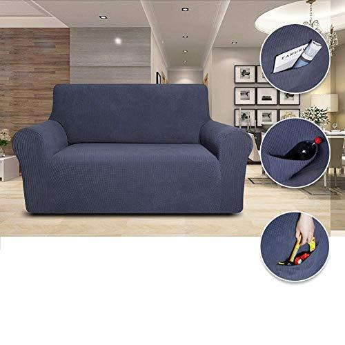 GAOZHEN Housses de canapé 1/2/3/4 Places, housse de canapé de Couleur Pure, housse de canapé en Tissu élastique extensible facile à ajuster, gris, 90~115in