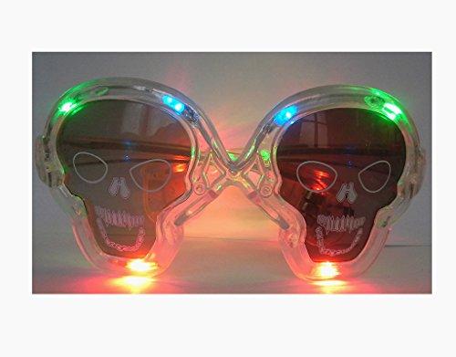 Lunettes lumineuses LED Multi couleur Halloween