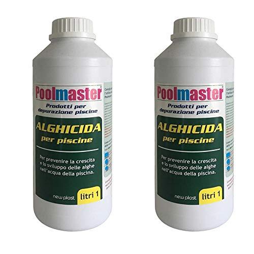 BOXLUM Poolmaster Alghicida per Piscine Doppia Funzione 2 Flaconi da Litri 1