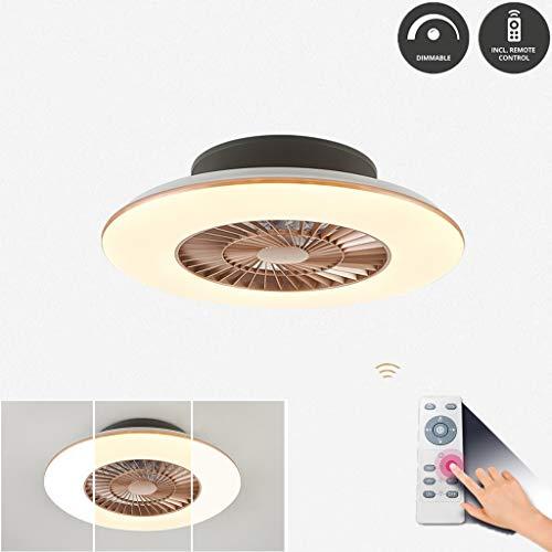 Fan Light plafondlamp met ventilator Invisible plafondspots LED plafond lamp Restaurant Slaapkamer Plafondventilator licht huishoudelijk Spot balken Mute Fan Kroonluchter 36W met afstandsbediening