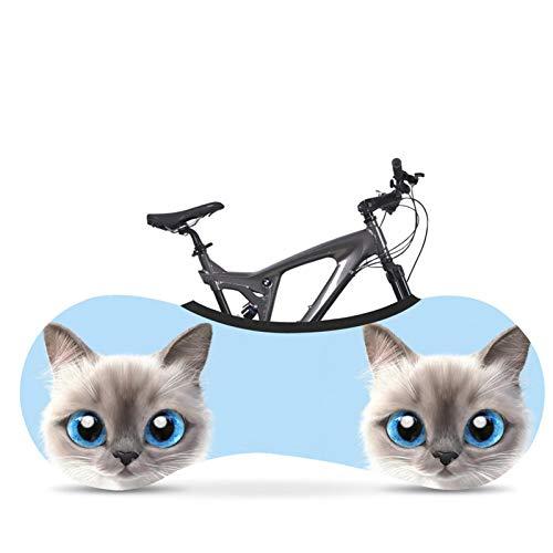AGQH Funda para Bicicleta para Almacenamiento, patrón de impresión de Gato Cubierta de Bicicleta Interior, Cubierta Universal para Ruedas de Bicicleta Mantiene los Pisos de su hogar