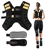 SGODDE Weighted Vest with Reflective Strips Adjustable Weight Vest for Men and Women Strength Training Running Cycling 12lbs