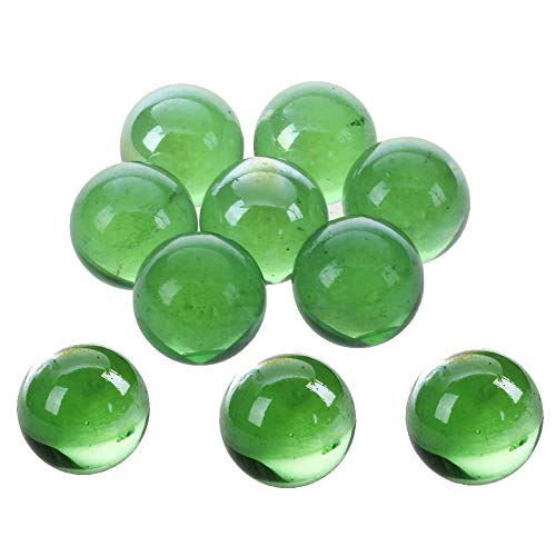 Fliyeong Glasmurmeln - 10 Stück Murmeln 16mm Glasmurmeln Knicker Glaskugeln Dekoration Farbe Nuggets Spielzeug grün Kostengünstig und langlebig