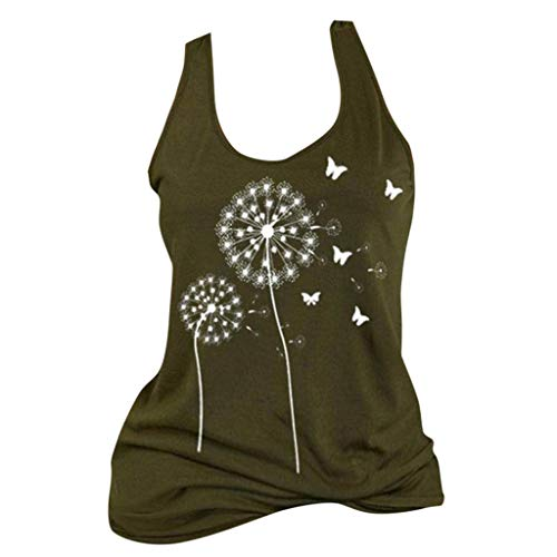 Learn More About Toimothcn Womens Vintage Tank Tops O Neck Sleeveless Taraxacum Print Sleeveless Cas...