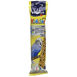 Vitakraft Budgie Kracker Bird Food Feathercare, Pack of 7