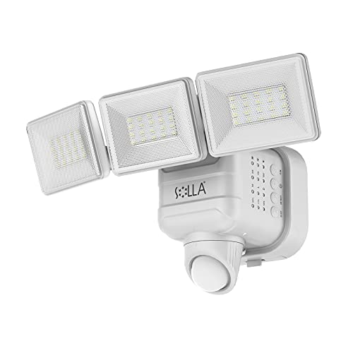Outdoor Motion Sensor Light , SOLLA 750lm Wireless Battery Operated Led Lights , 5000K Daylight Dimmable Flood Lights , Waterproof Security Lights for Yard, Porch, Patio , Garage , 1 Pack