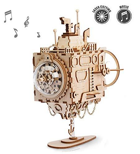 ROKR Kit de Caja Musical de Madera Puzzle de Madera 3D