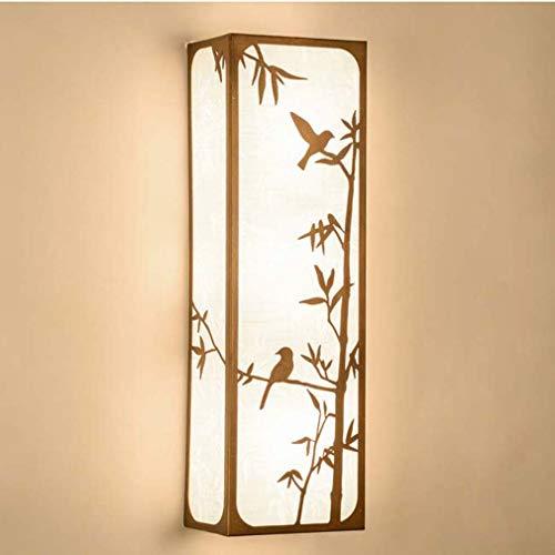 Stof wandlamp, retro creatieve minimalistische led-houder lamp, woonkamer eetkamer gang staafdecoratie ijzer wandlamp