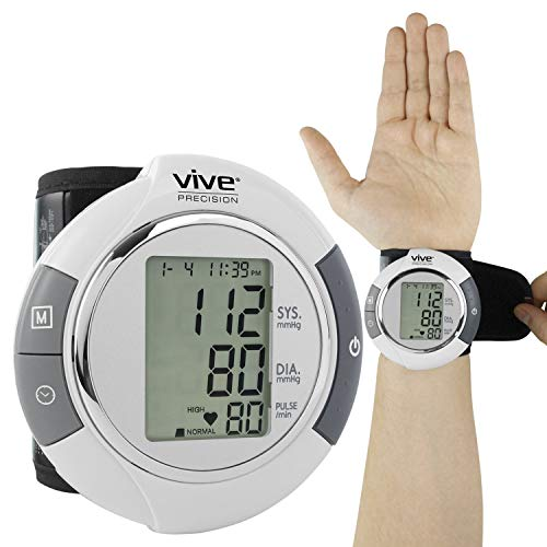 Vive Precision Blood Pressure Cuff Wrist - Automatic BPM - Digital Monitor BP Tester Machine -...
