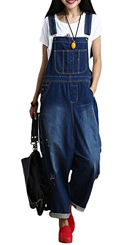 Vogstyle Damen Hosenträger Spielanzug Harem Jumpsuit Hosen L Bleu Art 2