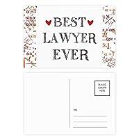 これまでに最高の弁護士を引用する職業 公式ポストカードセットサンクスカード郵送側20個