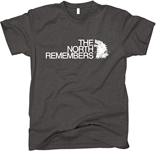 The North Remembers GoT Shirt, Large, Dark Heather