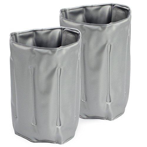 COM-FOUR® 2x portabottiglie per gli spostamenti - custodia per refrigeratore per vino con chiusura a sgancio rapido - custodia per raffreddamento per birra e vino (02 pezzi - 32,8 x 15 cm - grigio)