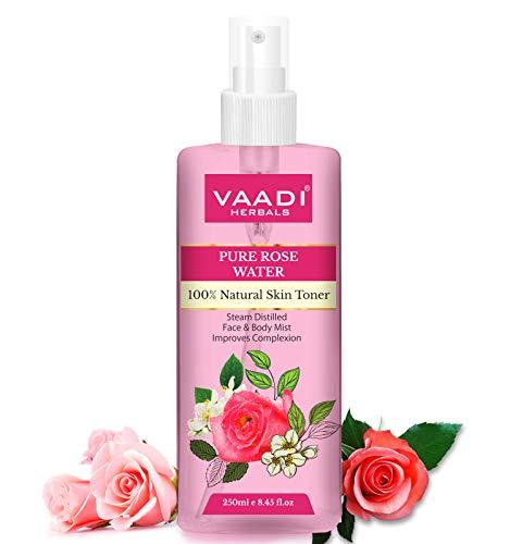 Vaadi Herbals Organic Rose Water - 100% Natural & Pure Natural Deeply Cleansing Rose Mist 250 ml