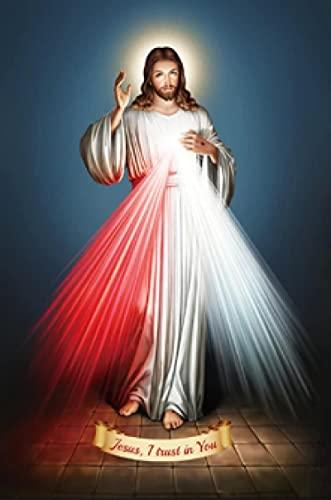 Lomoko Jésus J'Ai Confiance en toi La lumière de Jésus Toile Peinture Affiches HD Imprimer Mur Art Imprime Salon Décor À La Maison -60x80CM sans Cadre