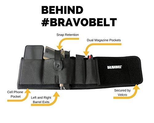 7. BRAVOBELT Belly Band Holster for Concealed Carry - Athletic Flex FIT for Running, Jogging, Hiking